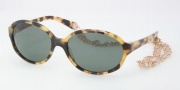 Tory Burch TY7039 Sunglasses Sunglasses - 504/71 Spotty Tortoise / Green Solid