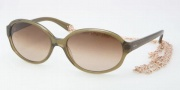 Tory Burch TY7039 Sunglasses Sunglasses - 666/13 Olive / Brown Gradient