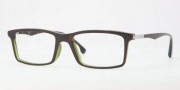 Ray Ban RX5269F Eyeglasses Eyeglasses - 2383 Top Havana on Green OP