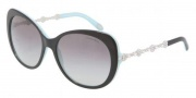 Tiffany & Co. TF4053B Sunglasses Sunglasses - 80553C Top Balck on Azure / Gray Gradient