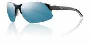 Smith Optics Parallel D Max Sunglasses Sunglasses - Black White / Blue Mirror