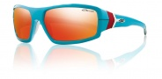 Smith Optics Interlock Spoiler Sunglasses Sunglasses - Teal Orange / Red Mirror