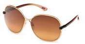 Tom Ford FT0222 Leila Sunglasses Sunglasses - 28A Shiny Rose Gold / Smoke