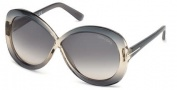 Tom Ford FT0226 Margot Sunglasses Sunglasses - 20B Grey / Gradient Smoke