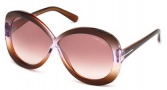 Tom Ford FT0226 Margot Sunglasses Sunglasses - 50Z Dark Brown / Gradient