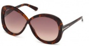 Tom Ford FT0226 Margot Sunglasses Sunglasses - 52F Dark Havana / Gradient Brown