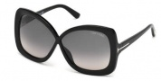 Tom Ford FT0227 Calgary Sunglasses Sunglasses - 01B Shiny Black / Gradient Smoke