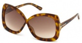 Tom Ford FT0227 Calgary Sunglasses Sunglasses - 52F Dark Havana / Gradient Brown