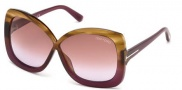 Tom Ford FT0227 Calgary Sunglasses Sunglasses - 53P Blonde Havana / Gradient Green
