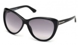 Tom Ford FT0230 Malin Sunglasses Sunglasses - 01B Shiny Black / Gradient Smoke