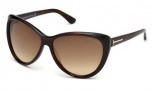 Tom Ford FT0230 Malin Sunglasses Sunglasses - 52F Dark Havana / Gradient Brown