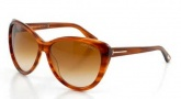 Tom Ford FT0230 Malin Sunglasses Sunglasses - 65F Horn / Gradient Brown