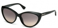 Tom Ford FT0231 Martina Sunglasses Sunglasses - 01B Shiny Black / Gradient Smoke