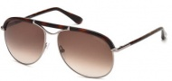 Tom Ford FT0235 Marco Sunglasses Sunglasses - 10F Shiny Light Nickeltin / Gradient Brown