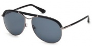 Tom Ford FT0235 Marco Sunglasses Sunglasses - 12A Shiny Dark Ruthenium