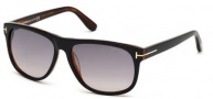 Tom Ford FT0237 Snowdon Sunglasses Sunglasses - 05B Black / Gradient Smoke