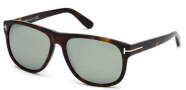Tom Ford FT0237 Snowdon Sunglasses Sunglasses - 52N Dark Havana / Green