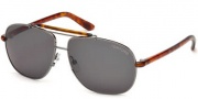 Tom Ford FT0243 Adrian Sunglasses Sunglasses - 12A Shiny Dark Ruthenium / Smoke