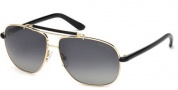 Tom Ford FT0243 Adrian Sunglasses Sunglasses - 28D Shiny Rose Gold / Smoke Polarized