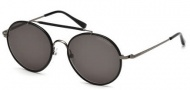 Tom Ford FT0246 Samuele Sunglasses Sunglasses - 09N Matte Gunmetal / Green