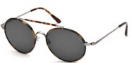 Tom Ford FT0246 Samuele Sunglasses Sunglasses - 12A Shiny Dark Ruthenium / Smoke