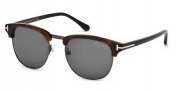 Tom Ford FT0248 Henry Sunglasses Sunglasses - 52A Dark Havana / Smoke