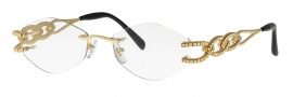 Caviar 1658 Eyeglasses Eyeglasses - 21 Gold With Clear Crystal Stones