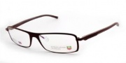 Tag Heuer Automatic 0801 Eyeglasses Eyeglasses - 003 Matt Chocolate Front / Dark Brown - Black Temples