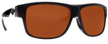 Costa Del Mar Caye Sunglasses Black Frame Sunglasses - Copper / 580P