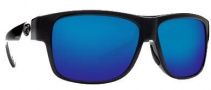 Costa Del Mar Caye Sunglasses Black Frame Sunglasses - Blue Mirror / 400G