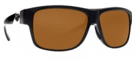 Costa Del Mar Caye Sunglasses Black Frame Sunglasses - Dark Amber / 400G