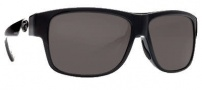 Costa Del Mar Caye Sunglasses Black Frame Sunglasses - Dark Gray / 400G