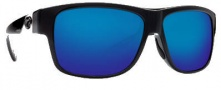 Costa Del Mar Caye Sunglasses Black Frame Sunglasses - Blue Mirror / 580G