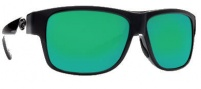 Costa Del Mar Caye Sunglasses Black Frame Sunglasses - Green Mirror / 580G