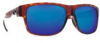 Costa Del Mar Caye Sunglasses Tortoise Frame Sunglasses - Blue Mirror / 400G