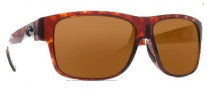 Costa Del Mar Caye Sunglasses Tortoise Frame Sunglasses - Dark Amber / 400G