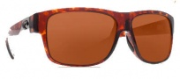 Costa Del Mar Caye Sunglasses Tortoise Frame Sunglasses - Copper / 580G