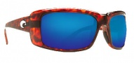 Costa Del Mar Cheeca Sunglasses Tortoise Frame Sunglasses - Blue Mirror / 400G