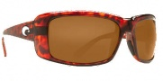 Costa Del Mar Cheeca Sunglasses Tortoise Frame Sunglasses - Dark Amber / 400G