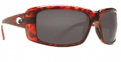 Costa Del Mar Cheeca Sunglasses Tortoise Frame Sunglasses - Dark Gray / 400G