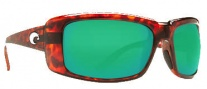 Costa Del Mar Cheeca Sunglasses Tortoise Frame Sunglasses - Green Mirror / 400G