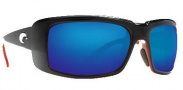 Costa Del Mar Cheeca Sunglasses Black Coral Frame Sunglasses - Blue Mirror / 400G