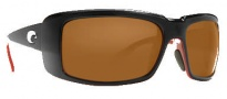 Costa Del Mar Cheeca Sunglasses Black Coral Frame Sunglasses - Dark Amber / 400G
