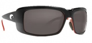 Costa Del Mar Cheeca Sunglasses Black Coral Frame Sunglasses - Dark Gray / 400G