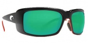 Costa Del Mar Cheeca Sunglasses Black Coral Frame Sunglasses - Green Mirror / 400G