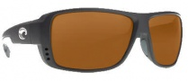 Costa Del Mar Double Haul Sunglasses Black Frame Sunglasses - Dark Amber / 580P