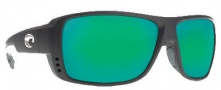 Costa Del Mar Double Haul Sunglasses Black Frame Sunglasses - Green Mirror / 400G