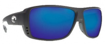 Costa Del Mar Double Haul Sunglasses Black Frame Sunglasses - Blue Mirror / 580G