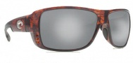 Costa Del Mar Double Haul Sunglasses Tortoise Frame Sunglasses - Silver Mirror / 580G