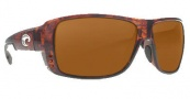 Costa Del Mar Double Haul Sunglasses Tortoise Frame Sunglasses - Dark Amber / 580P